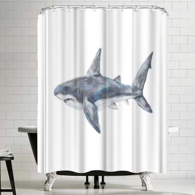 Jetty Printables Great White Painting Shower Curtain