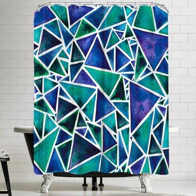 Elena Oneill Geometric Triangles Shower Curtain