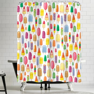 Elena Oneill Ice Lollies Shower Curtain