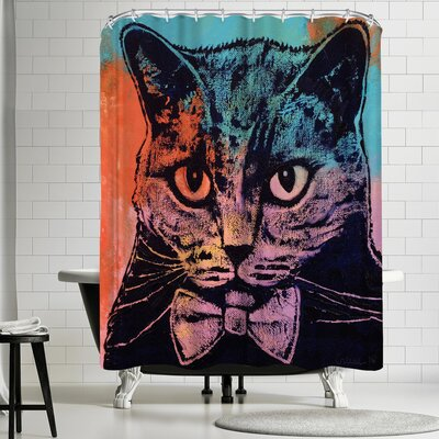 Michael Creese Old School Cat Shower Curtain