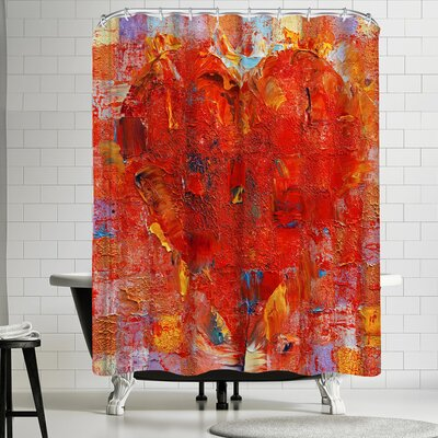 Michael Creese Patchwork Heart Shower Curtain
