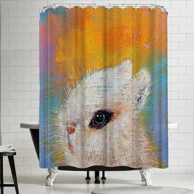Michael Creese Rabbit Shower Curtain