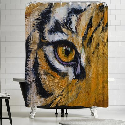 Michael Creese Tiger Eye Shower Curtain