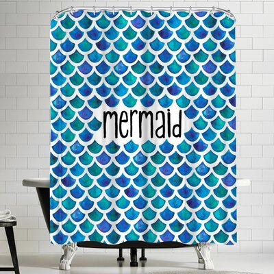 Elena Oneill Mermaid in Blue Shower Curtain