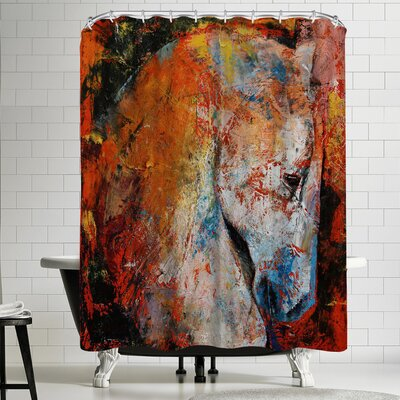 Michael Creese War Horse Shower Curtain