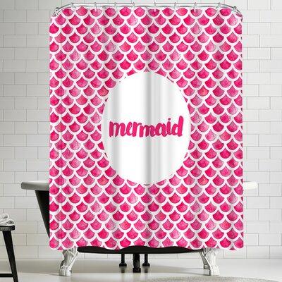 Elena Oneill Mermaid in Pink Shower Curtain