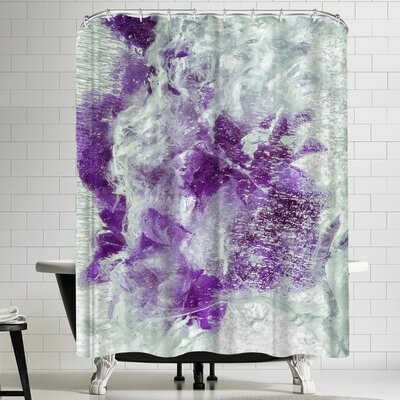 Zina Zinchik Purple Dragon Shower Curtain