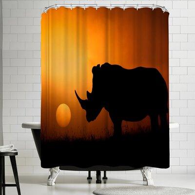 1x Rhino Sunrise Shower Curtain