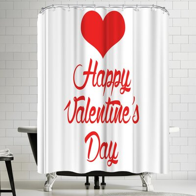Wonderful Dream Happy Valentine Shower Curtain