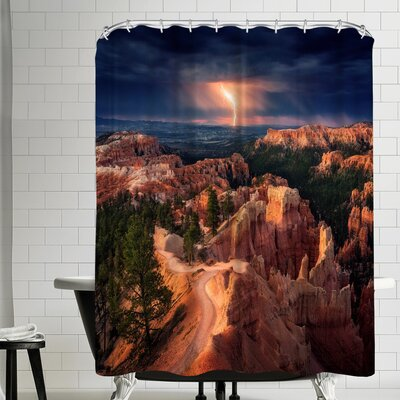 1x Lightning Over Bryce Canyon Shower Curtain