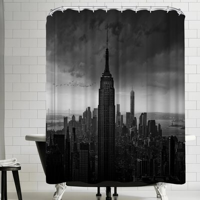 1x New York Rockefeller View Shower Curtain