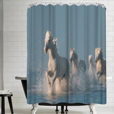 1x Angels of Camargue Shower Curtain