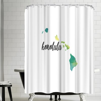Paperfinch HI Honolulu Shower Curtain
