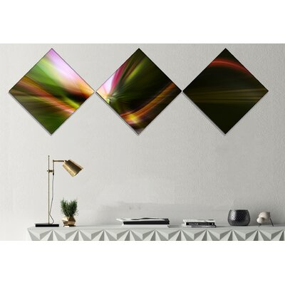 'Rays of Speed Green' Graphic Art Print Multi-Piece Image on Canvas URBR1431 41312174