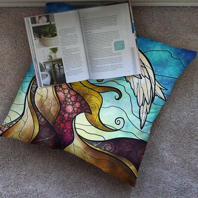 Mandie Manzano in the Arms of the Angel Square Floor Pillow Size: 23 x 23