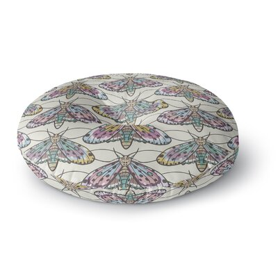 Amanda Lane Boho Gypsy Moth Digital Illustration Round Floor Pillow Size: 23 x 23