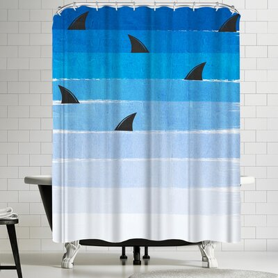 Charlotte Winter Sharks Shower Curtain