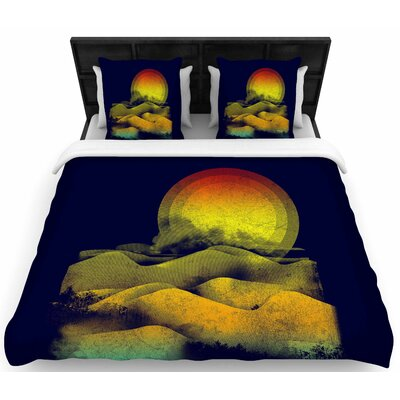 Federic Levy-Hadida Sunset Landscape Woven Duvet Cover Size: King