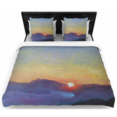 Carol Schiff Mountain Sunset Woven Duvet Cover Size: Twin