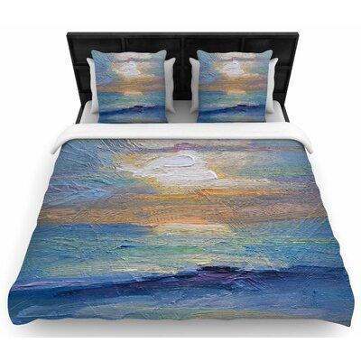Carol Schiff Ocean Sunset Woven Duvet Cover Size: King