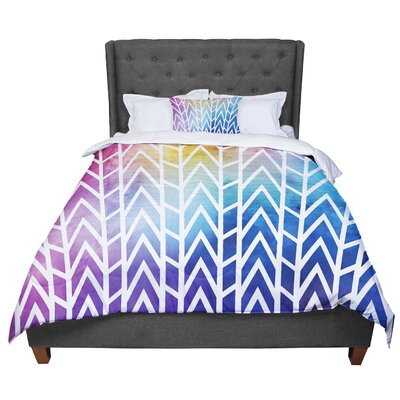 Matt Eklund Shattering Sunsets Comforter Size: Queen, Color: Blue/Purple
