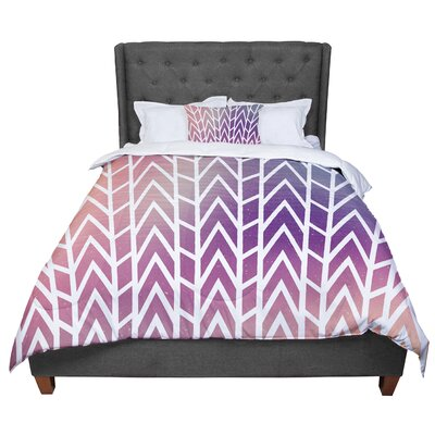 Matt Eklund Shattering Sunsets Comforter Size: Twin, Color: Purple/Orange