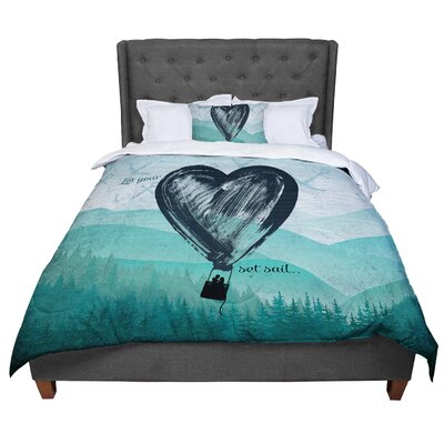 Nick Atkinson Heart Comforter Size: Twin