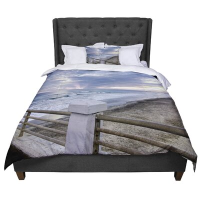 Nick Nareshni Oceanside Pier At Sunset Coastal Photography Comforter Size: Queen