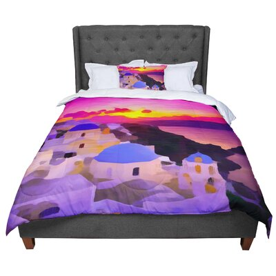 Oriana Cordero My Konos Sunset Comforter Size: Twin