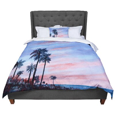 Rosie Florida Sunset Palm Tree Comforter Size: King