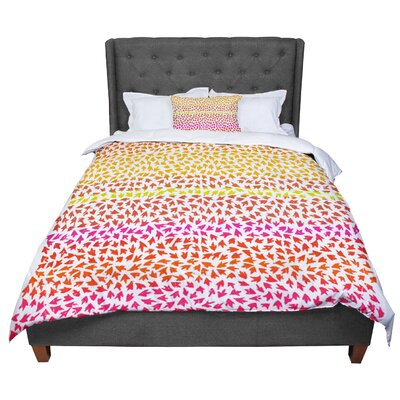 Sreetama Ray Sunset Arrows Abstract Comforter Size: Queen