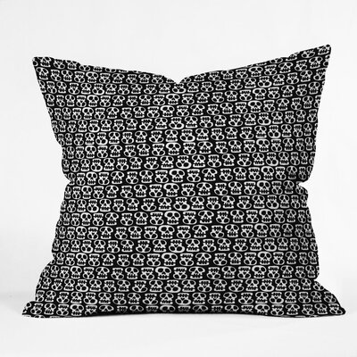 Skulls Throw Pillow Size: 16 H x 16 W x 4 D, Color: Black