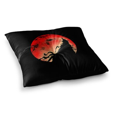BarmalisiRTB Black Cloak Square Floor Pillow Size: 26 x 26