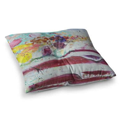 Nathan Gibbs Burn The Masts Magenta Painting Square Floor Pillow Size: 26 x 26
