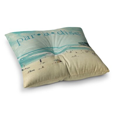 Sylvia Cook Paradise Square Floor Pillow Size: 23 x 23