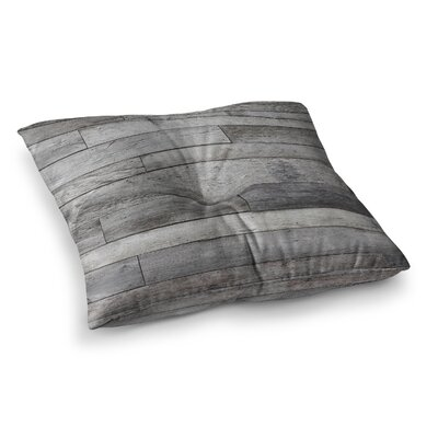 Susan Sanders Rustic Wood Photography Square Floor Pillow Size: 23 x 23, Color: Gray