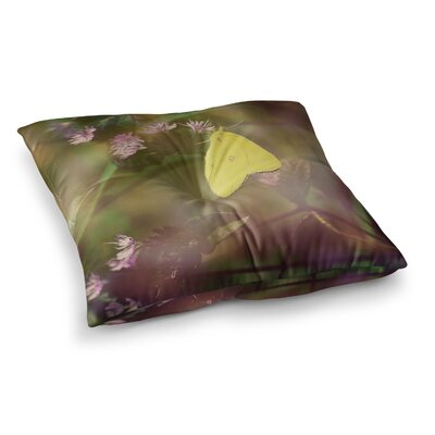 Robin Dickinson Butterfly Kisses Square Floor Pillow Size: 26 x 26
