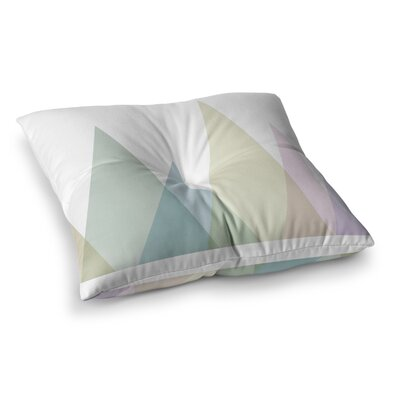 Alias Many Peaks Illustration Square Floor Pillow Size: 23 x 23