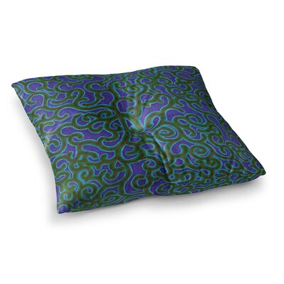 NL Designs Swirling Vines Square Floor Pillow Size: 26 x 26