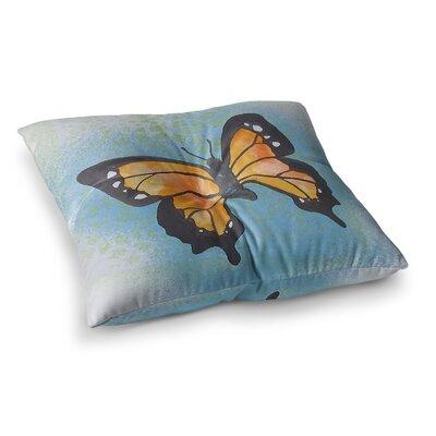 Padgett Mason Flutter Maroon Square Floor Pillow Size: 23 x 23, Color: Dark Blue