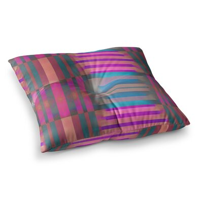 Nina May Tracking Stripes Square Floor Pillow Size: 23 x 23