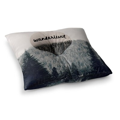 Robin Dickinson Wanderlust Square Floor Pillow Size: 23 x 23