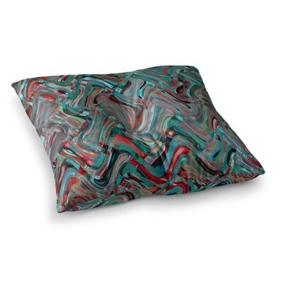 Suzanne Carter Abstract Wave Square Floor Pillow Size: 23 x 23