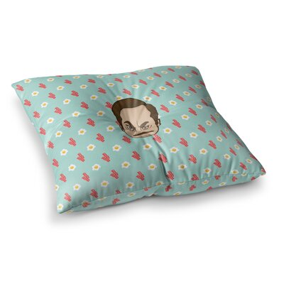 Juan Paolo Give Me All of the Bacon and Eggs Parks and Recreation Square Floor Pillow Size: 23 x 23