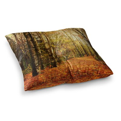Sylvia Cook Autumn Leaves Rustic Square Floor Pillow Size: 26 x 26