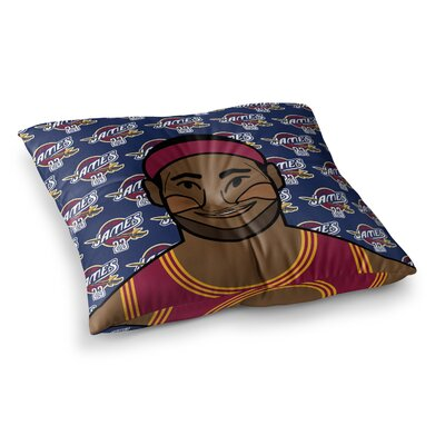Will Wild Lebron James Basketball Square Floor Pillow Size: 26 x 26