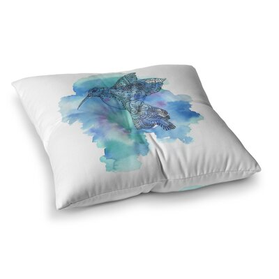 Sonal Nathwani Hummingbird Watercolor Square Floor Pillow Size: 23 x 23