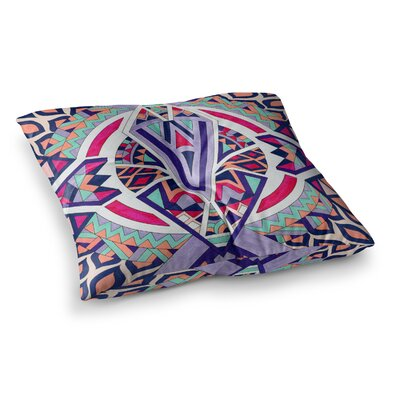 Pom Graphic Design Abstract Journey Circular Tribal Square Floor Pillow Size: 23 x 23