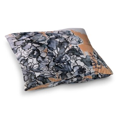 Sonal Nathwani Inky Bouquet Square Floor Pillow Size: 23 x 23