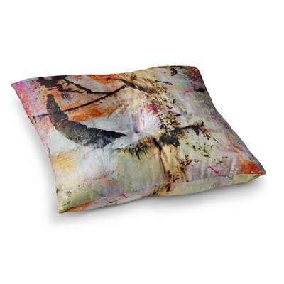 Malia Shields Abstracted Circles Painting Square Floor Pillow Size: 26 x 26